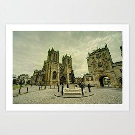 Bristol Cathedral Statue  Art Print