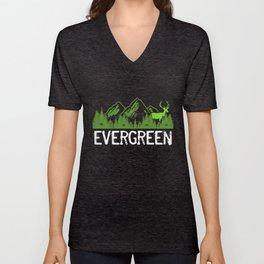 Evergreen Unisex V-Neck