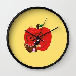 Nerdy Apple Wall Clock