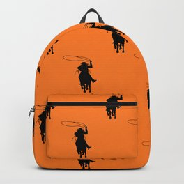 Cowgirl Roper Silhouette Pattern Backpack