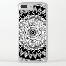 Black and White Mandala Two Clear iPhone Case