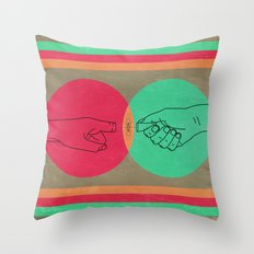 Pull your finger out  Throw Pillow