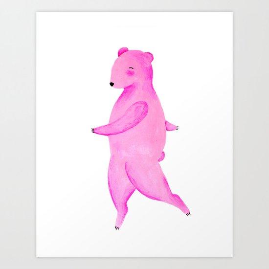 Dancing Bear №2 Art Print