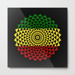 Flower of Rasta Life Metal Print