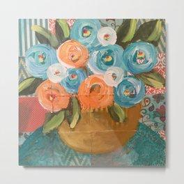 Bowl of Flowers Metal Print