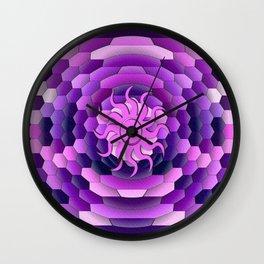 Purple Sun Wall Clock