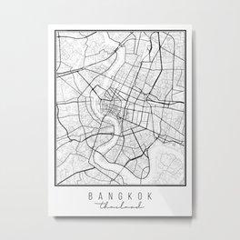 Bangkok Thailand Street Map Metal Print