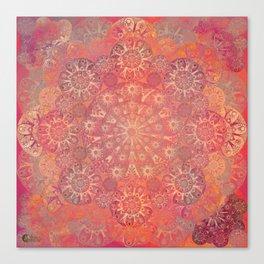 """Coral & Rosewood Mandala (pattern)"" Canvas Print"