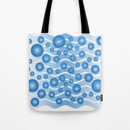 fresh blue water bubbles Tote Bag