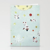 outer space Stationery Cards featuring Outer Space by Max Grünfeld