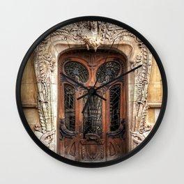 Art Nouveau 7th Arrondissement Paris France Ornate Doorway Wall Clock