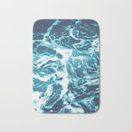 Tropical Turquoise Waves - nature photography Bath Mat