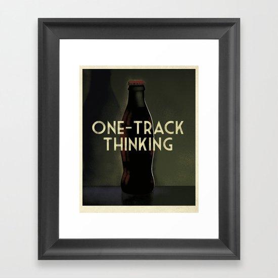 Message in a Bottle - Cassandre Spirit Framed Art Print