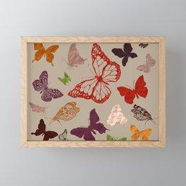 Autumn butterfly neutral Framed Mini Art Print