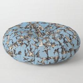 Wintering Ducks in Flight Floor Pillow