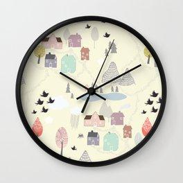 'Den lilla Staden' Wall Clock