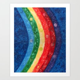 Planet Rainbow Art Print