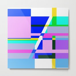 Abstract - Pink Blue and white 2 Metal Print