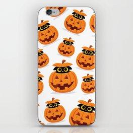 Cute Kitty Hidden Inside a Pumpkin iPhone Skin
