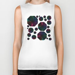 Abstract Rainbow After the Storm Pattern Biker Tank