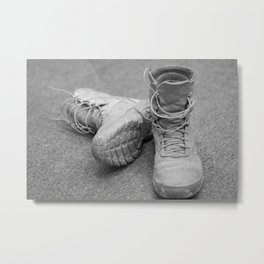 A Mile in My Boots Metal Print