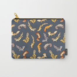 Geckos in black Carry-All Pouch