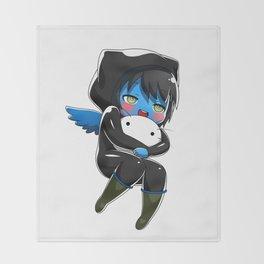 Fuzzy Chibi Luc (Expression 1)  Throw Blanket