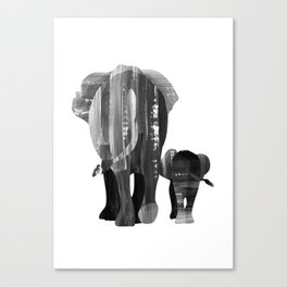 A walk together (black and white) Canvas Print
