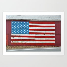 Patriotic barn Art Print