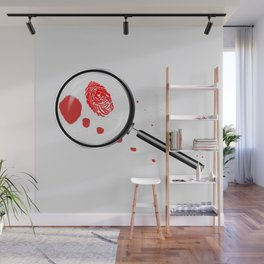 Detectives Magnifying Glass Wall Mural