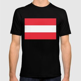 Flag of  Austria - High quality HD authentic version T-shirt