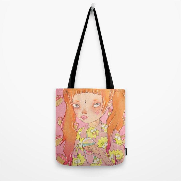 Orange Fluffy Tote Bag