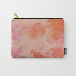 Bright Peachy  Orange Painting Abstract Background Texture Original Artwork Carry-All Pouch