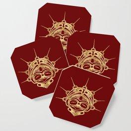 Golden Frog Blood Coaster