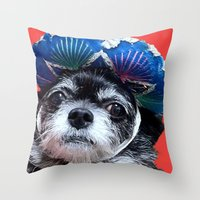 coco Throw Pillows featuring Coco by MyFavoriteCouture.com