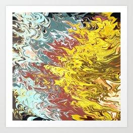 paint splash Art Print
