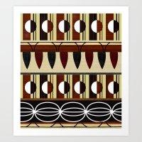 mid century Art Prints featuring Mid Century Pattern Composition by Elisandra