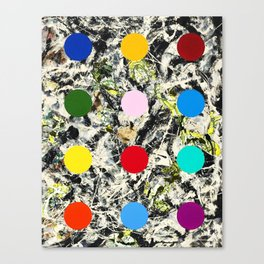 DAMIEN HIRSTED 7 Canvas Print