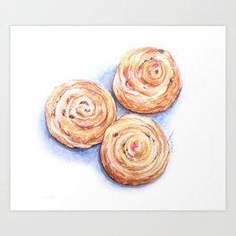 Cinnamon Rolls On Me Art Print