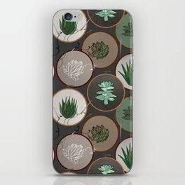 Succulent Embroidery Hoops iPhone Skin