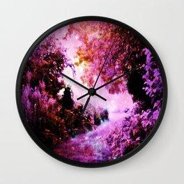 Romantic Fantasy Garden Wall Clock