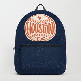 Hand Drawn Baseball for Houston Texas with custom Lettering Backpack