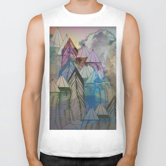 Triangular Endings on the Top Above the Clouds / Urban 04-11-16 Biker Tank