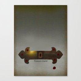 Treasure Island Minimal Poster Canvas Print