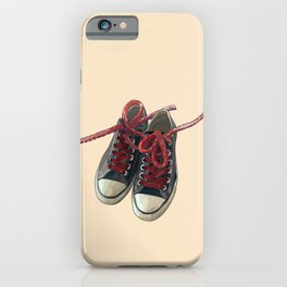 Converse Sneakers With Licorice Candy Shoelaces iPhone Case