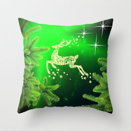 Christmas reindeer happy decoration Throw Pillow
