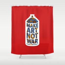 Make Art Not War (African print red) Shower Curtain