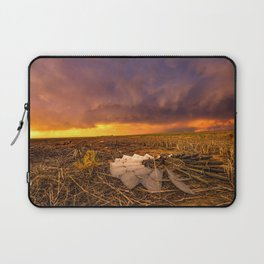 Lost In Time - Broken Windmill and Stormy Sky in Kansas Laptop Sleeve
