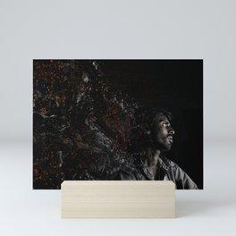 Man Portrait Coming Together Mini Art Print