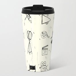 Filmmaking Pattern // Ink Drawing Travel Mug
